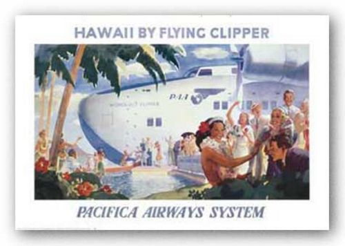 Honolulu Clipper by Reproduction Vintage Poster