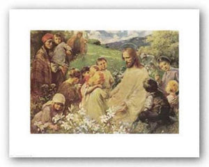 Christ and the Little Children by Endre Komaromi-Kacz