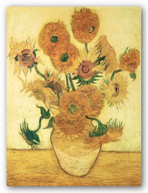 Vase with Sunflowers by Vincent Van Gogh