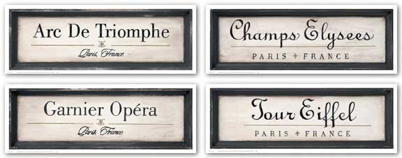Tour Eiffel-Arc de Triomphe-Champs Elysees-Garnier Opera Set by Working Girls Studio