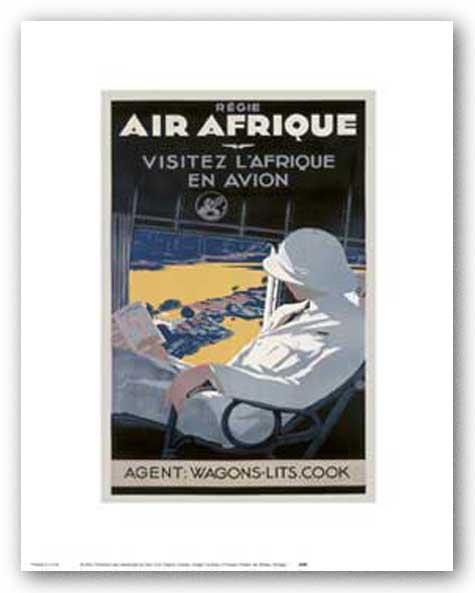 Air Afrique by Reproduction Vintage Poster