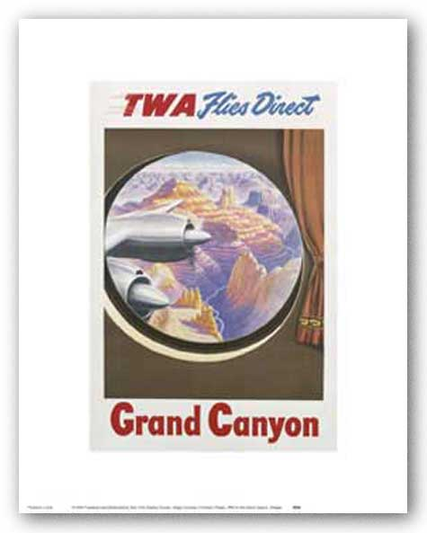 TWA To The Grand Canyon by Reproduction Vintage Poster