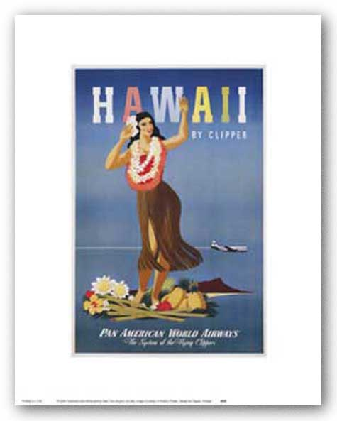Hawaii By Clipper by Reproduction Vintage Poster
