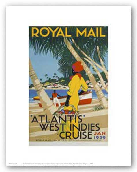 West Indies Cruise by Reproduction Vintage Poster