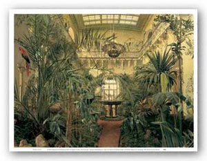 Interior of the Winter Garden of the Winter Palace at St. Petersburg, 1840 by Mikhail Ivanovich (Michail Ivanovic) Antonov