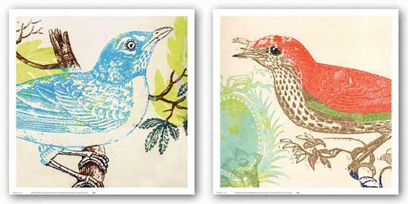 Red Bird and Bluebird Set by Swan Papel