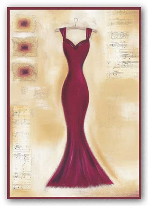Red Evening Gown I by Lucy Barnard