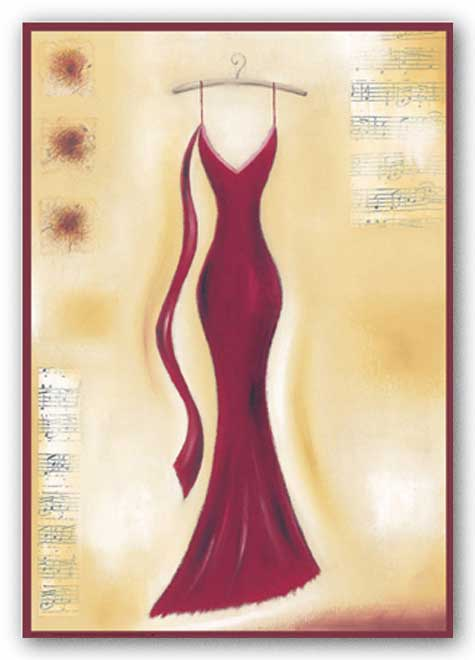 Red Evening Gown II by Lucy Barnard