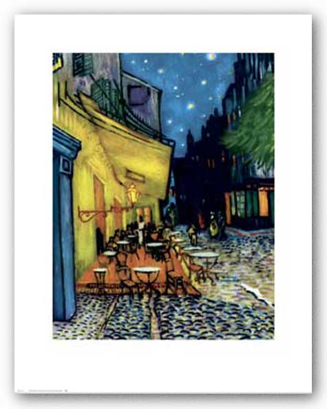 A Sidewalk Cafe at Night, 1888 by Vincent van Gogh