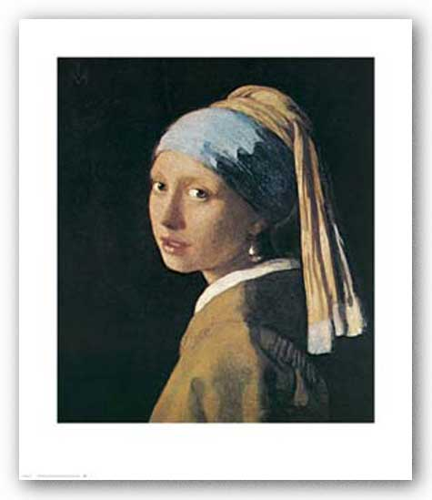 Girl with Turban by Jan Vermeer