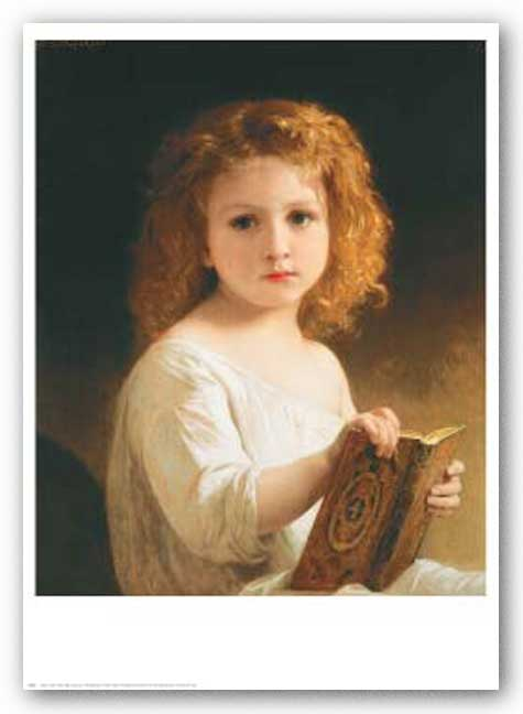 The Story Book by William-Adolphe Bouguereau