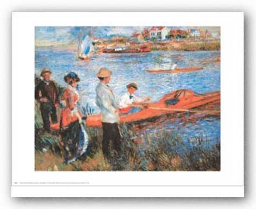 Oarsmen at Chateau by Pierre-Auguste Renoir