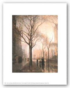 Plaza After the Rain by Paul Cornoyer