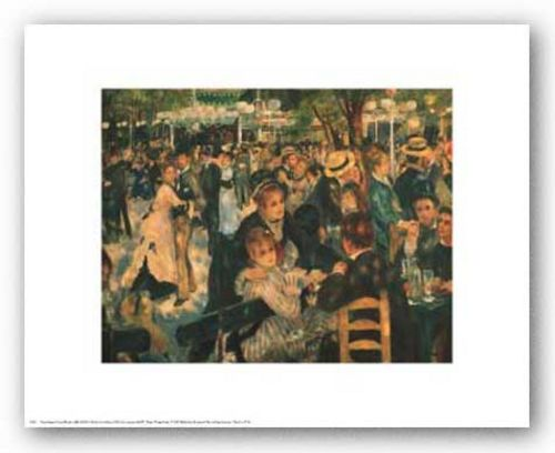 Dance at La Moulin de la Galette by Pierre-Auguste Renoir