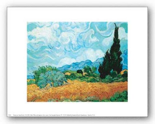 Yellow Wheat and Cypresses by Vincent van Gogh