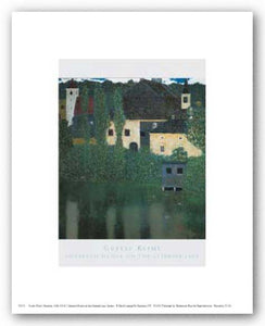 Unterach Manor on the Attersee Lake, Austria by Gustav Klimt