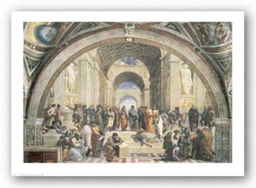 School of Athens by Sanzio Raphael (Raffaello)