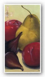 Pear, Plums and Figs by Sylvia Gonzalez