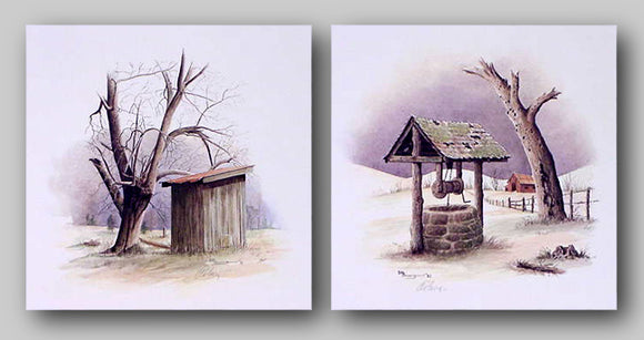 Out House and Old Well Set by Howard Burger