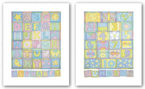 Numbers and Alphabet Set by Cheryl Piperberg