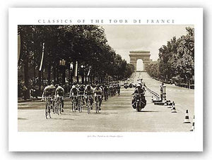 1975 Tour Finish on the Champs Elysees by Sports Pressee