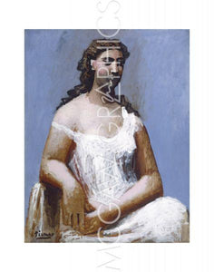Seated Woman in a Chemise, 1923 by Pablo Picasso