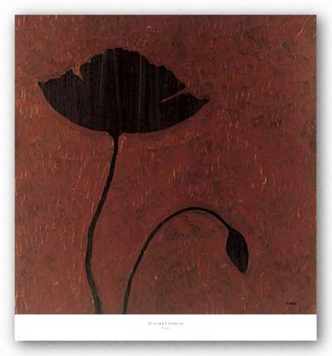 Poppy (Gold Foil) by Robert Charon