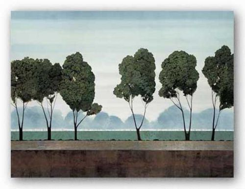 Six Trees (Silver Foil) by Robert Charon
