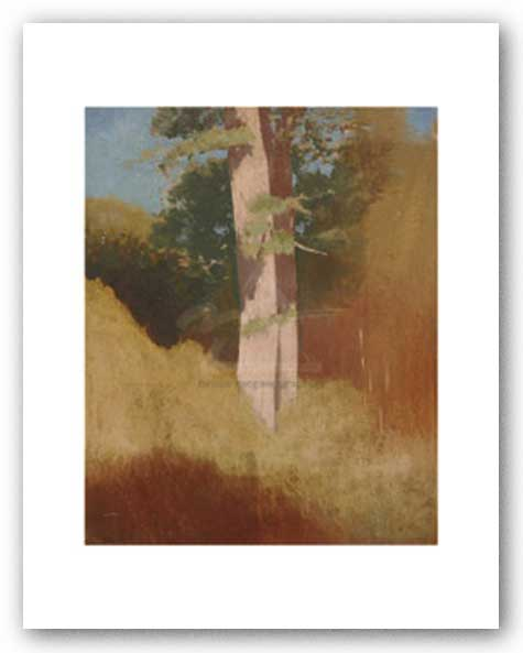 Trees in the Blue Sky by Odilon Redon