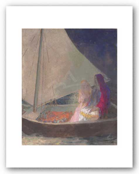 The Barque, c. 1902 by Odilon Redon