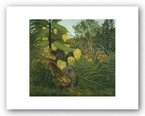 The Fight Between a Tiger and Buffalo, 1908 by Henri Rousseau