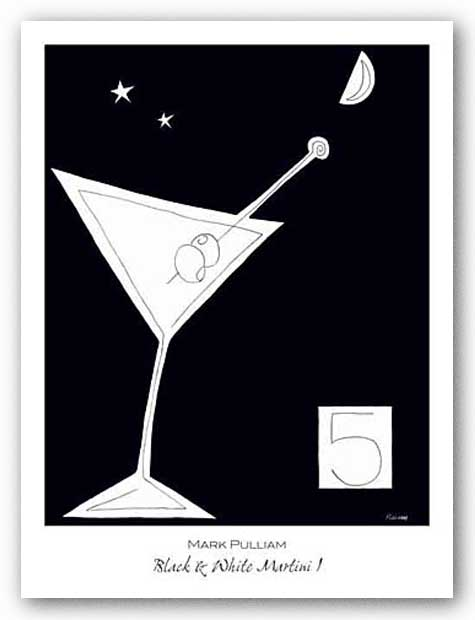 Black and White Martini I by Mark Pulliam