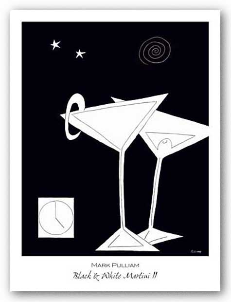Black and White Martini II by Mark Pulliam