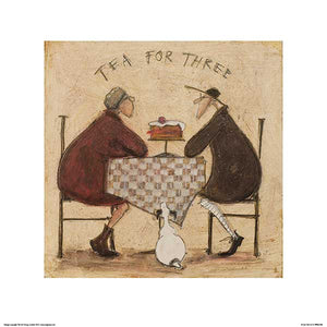 Tea for Three (Checkered Tablecloth) by Sam Toft