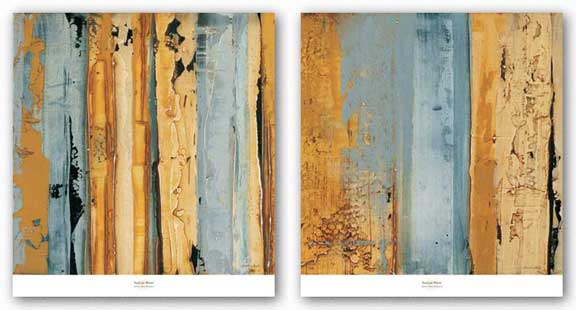 Ochre, Blue Overlay Set by Sarah West