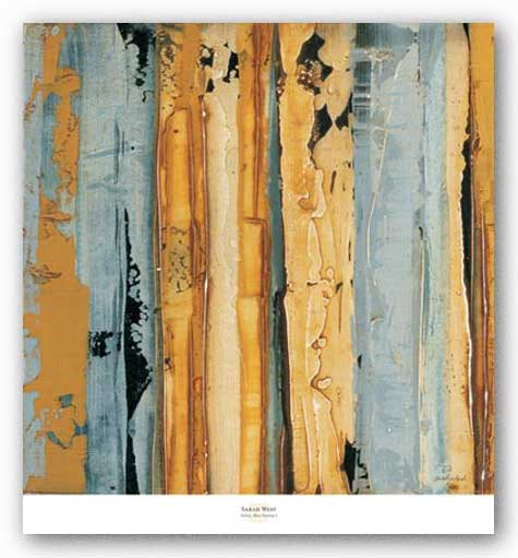 Ochre, Blue Overlay I by Sarah West