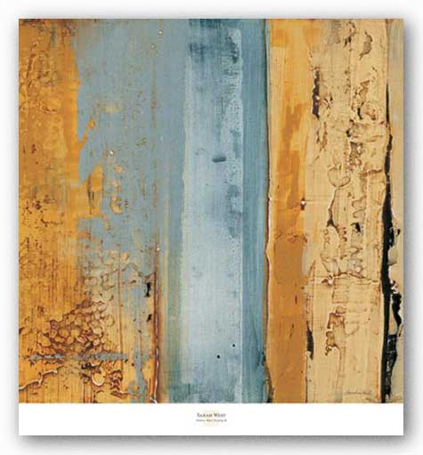 Ochre, Blue Overlay II by Sarah West