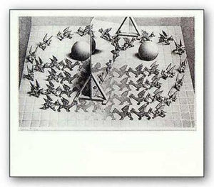 Magic Mirror by M.C. Escher