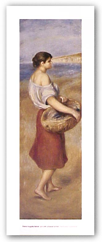 Girl with a Basket of Fish by Pierre-Auguste Renoir