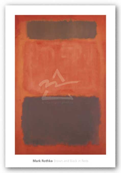 Brown and Black in Reds, 1957 by Mark Rothko