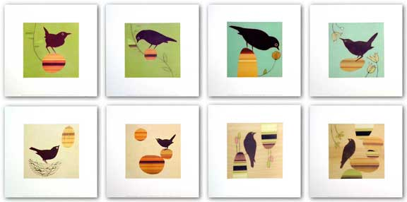 Birds Set (Eight Prints) by Amy Ruppel