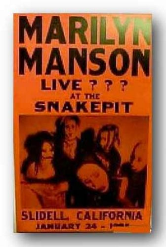 Marilyn Manson by Reproduction Concert Poster