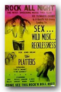The Platters by Reproduction Concert Poster