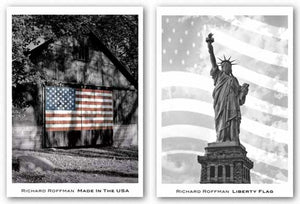 Liberty Flag and Made In The USA Set by Richard Roffman