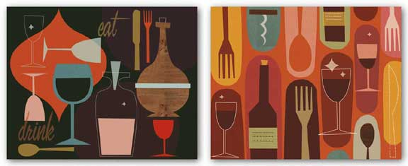 Eat and Drink - Wine and Dine Set by Jenn Ski