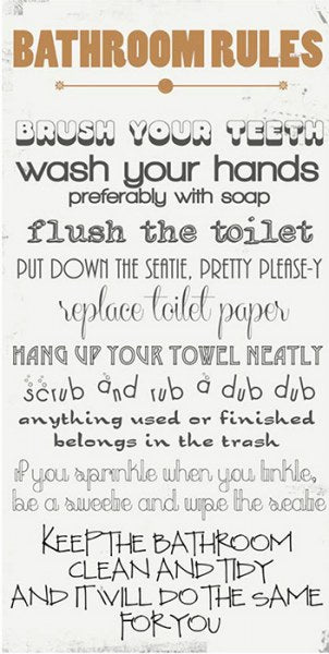 Bathroom Rules by Anna Quach