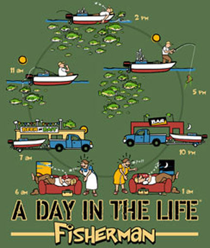 A Day In The Life Fisherman by Jim Baldwin