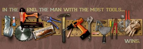 The Man With The Most Tools Wins by Jim Baldwin