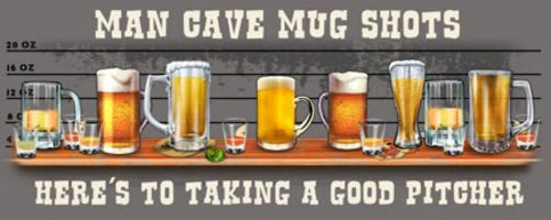Man Cave Mug Shots (Pitcher) by Jim Baldwin