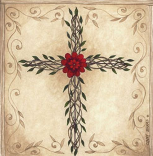 Floral Cross by Cindy Shamp